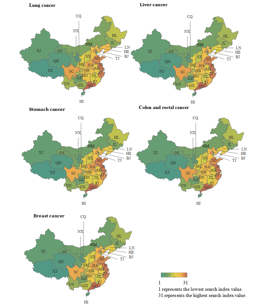 Jmir Association Between Cancer Incidence And Mortality In Web Based Data In China Infodemiology Study Xu Journal Of Medical Internet Research