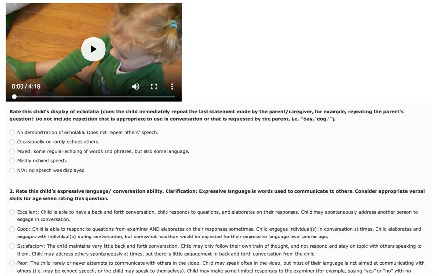 JMIR - Validity of Online Screening for Autism